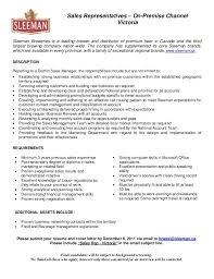 sales representative resume sales representative on premise