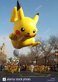 macy s thanksgiving parade pikachu balloon at the macy u0027s thanksgiving parade new york city