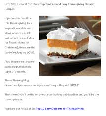 easy thanksgiving desserts to try this year recipes and