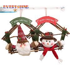 2017 unique merry gifts 2pcs lot santa claus snowman