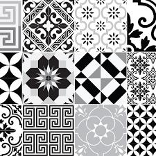 buy beija flor eclectic vinyl floor mat black white amara