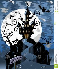 halloween scene clipart halloween spooky ghost castle background stock photos image