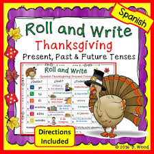 thanksgiving verb activity boards present past future