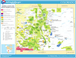 Colorado Map Images by Map Of Colorado Map Federal Lands And Indian Reservations