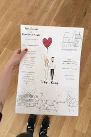 cool wedding invitations personalised wedding invitations portrait illustration