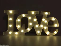 large light up letters large light up battery led love word letters wall light sign light