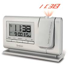 rm308p s classic projection alarm clock silver oregon