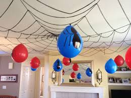 simple birthday decoration ideas for home spiderman party
