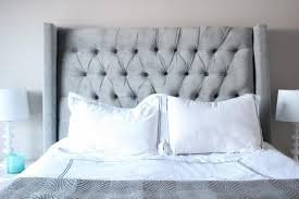 Tufted Headboard King Bed Size Box King Size Grey Tufted Headboard