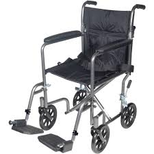 transport chair with fixed full arms drive medical wheelchair