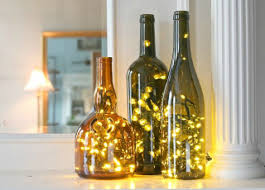 how to decorate a wine bottle for a gift 17 apart on ehow diy wine bottle christmas lights