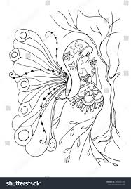 coloring book page pregnant lady stock vector 395508124