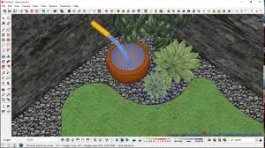 simple garden design process with sketchup youtube