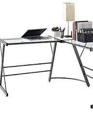 Glass L Shaped Computer Desk by Altra Odin Glass L Shaped Computer Desk Gray Wall U0027s Furniture