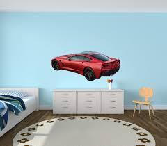 amazon com sports car wall decal corvette wall decals car amazon com sports car wall decal corvette wall decals car stickers red offset corvette baby