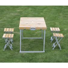 aluminum portable picnic table furniture folding picnic table 4 seat portable set outdoor aluminum