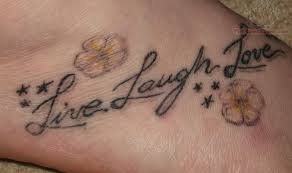 live laugh love tattoos on foot tattoomagz