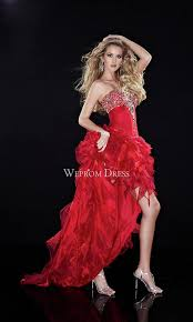 rectangle sequin ruffles floor length natural red a line red prom