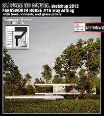 sketchup texture sketchup model farnsworth house vray setting