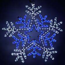 snowflakes 26 led snowflake with blue center blue and