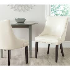 Cream Dining Chairs Safavieh Afton Light Blue Cotton Linen Side Chair Set Of 2