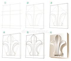 page shows how to learn step by step to draw a gypsum ornament