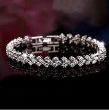 sterling silver crystal bracelet images Exquisite rome 925 sterling silver crystal bracelet deal4steals png