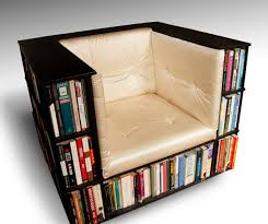 Cool Bookshelves Ideas Interior Black Modern Stained Solid Wood Arm Chair Bookcase Wall