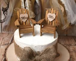 chair cake topper s mores themed cing wedding cake topper pit mr mrs