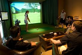 golf simulator home theater student housing goes high tech with hd golf simulators