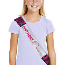 happy birthday sash pink fringe happy birthday tiara 7 1 2in party city canada