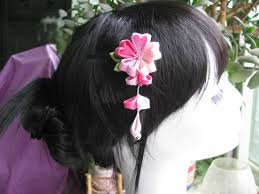 japanese traditional style kimono flower blossom hairpin