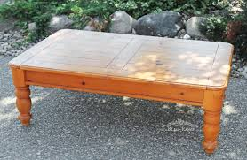 bliss ranch pine coffee table makeover