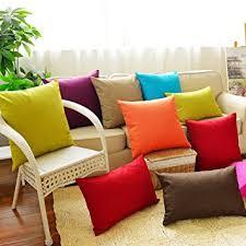 canapé coussins housse de coussin coliang solide plusieurs couleurs simple