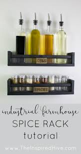 wall mounted spice rack cabinet diy rustic wall mounted spice rack ikea bekvam industrial
