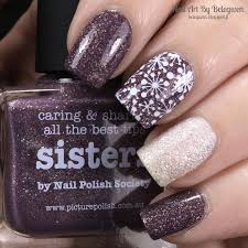 nail art by belegwen picture polish sisters and barry m lady