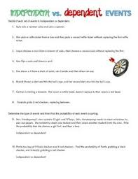 dependent events worksheet free worksheets library download and