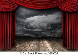 Stage With Curtains Stock Image Of Bright Stage With Red Velvet Theater Curtains And