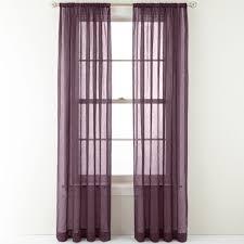 crushed voile rod pocket sheer panel plum splendor u2013 the curtain