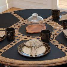 placemats for round table wedge placemats black wipe clean wedge shaped round table placemat