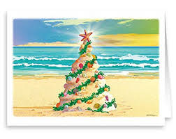 tropical christmas cards santa bass fish theme christmas card 18 cards and envelopes