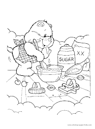 care bears coloring page sweet care bear