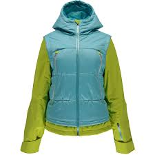 spyder women s ski jacket moxie jacket freeze acid vendario