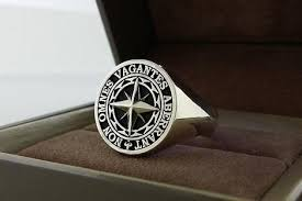 signet ring men custom signet ring mens ring2 by 3dheraldry custommade