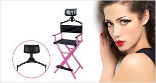 Makeup Hair Salon Headrest Folding Aluminum Metal Makeup Hair Salon Cosmetic Beauty