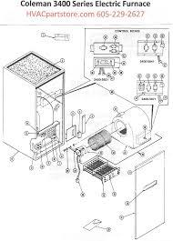 3400 815 coleman electric furnace parts u2013 hvacpartstore