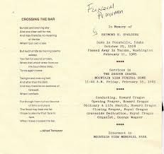 Sample Memorial Programs Larry Cragun Family And Genealogy Blog February 2012