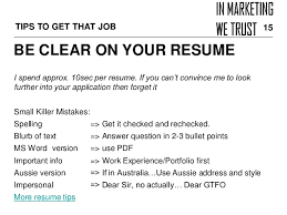 Resume Blurb How To Land That First Digital Marketing Job