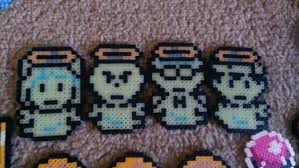mother earthbound dead cast glow in the dark pixel art bead