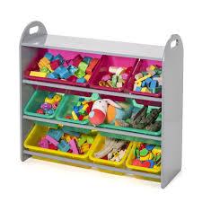 jeux de rangement de chambre de fille grande étagère grise et ses 9 bacs de rangement educabul création